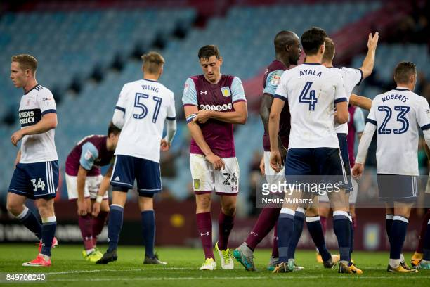 Tommy Elphick of Aston Villa during the Carabao Cup Third Round match between Aston Villa and Middlesbrough at the Villa Park on September 19 2017 in...