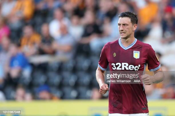 Tommy Elphick of Aston Villa during the Sky Bet Championship match between Hull City and Aston Villa at KCOM Stadium on August 6 2018 in Hull England