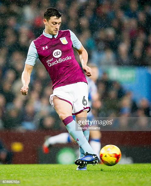 Tommy Elphick of Aston Villa during the Sky Bet Championship match between Aston Villa and Wigan Athletic at Villa Park on December 10 2016 in...