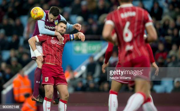 Tommy Elphick of Aston Villa during the Sky Bet Championship match between Aston Villa and Bristol City at Villa Park on January 01 2018 in...