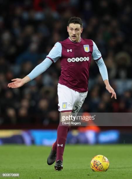 Tommy Elphick of Aston Villa runs with the ball during the Sky Bet Championship match between Aston Villa and Bristol City at Villa Park on January 1...