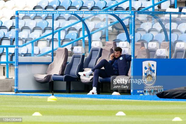 Tommy Elphick of Huddersfield Town ahead of the Sky Bet Championship match between Huddersfield Town and Preston North End at John Smith's Stadium on...