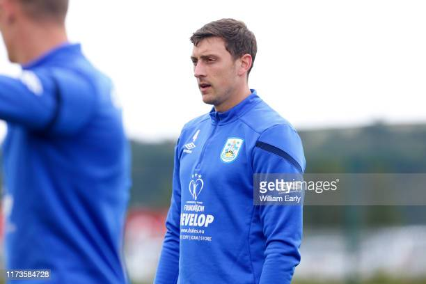 Tommy Elphick of Huddersfield Town during Danny and Nicky Cowley's first training session for Huddersfield Town at PPG Canalside on September 10 2019...