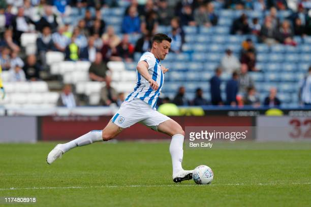 Tommy Elphick of Huddersfield Town during the Sky Bet Championship match between Huddersfield Town and Sheffield Wednesday at John Smith's Stadium on...