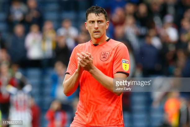 Tommy Elphick of Huddersfield Town during the Sky Bet Championship match between West Bromwich Albion and Huddersfield Town at The Hawthorns on...