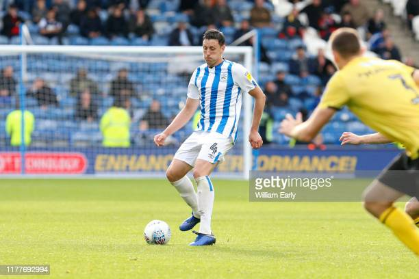 Tommy Elphick of Huddersfield Town during the Sky Bet Championship match between Huddersfield Town and Millwall at John Smith's Stadium on September...