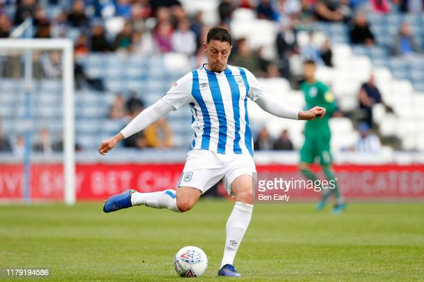 Tommy Elphick of Huddersfield Town during the Sky Bet Championship match between Huddersfield Town and Hull City at John Smith's Stadium on October...