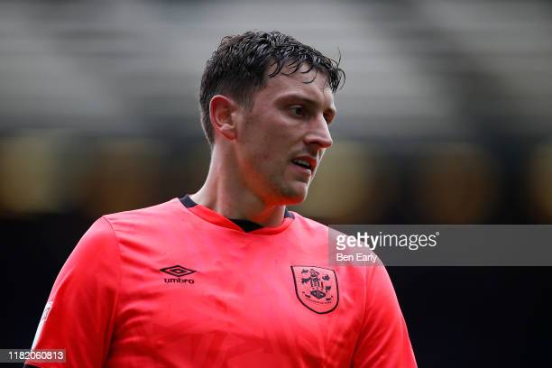 Tommy Elphick of Huddersfield Town during the Sky Bet Championship match between Blackburn Rovers and Huddersfield Town at Ewood Park on October 19...