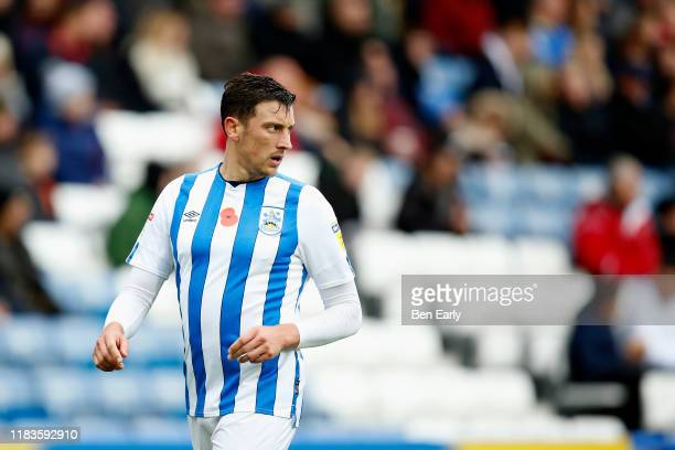 Tommy Elphick of Huddersfield Town during the Sky Bet Championship match between Huddersfield Town and Barnsley at John Smith's Stadium on October 26...