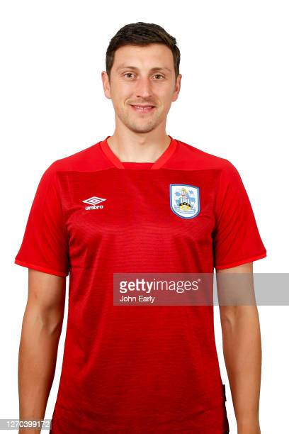 Tommy Elphick of Huddersfield Town in the alternate kit for the 2020/21 season on August 31 2020 in Huddersfield England