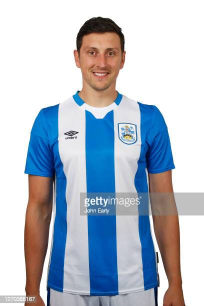 Tommy Elphick of Huddersfield Town in the home kit for the 2020/21 season on August 31 2020 in Huddersfield England