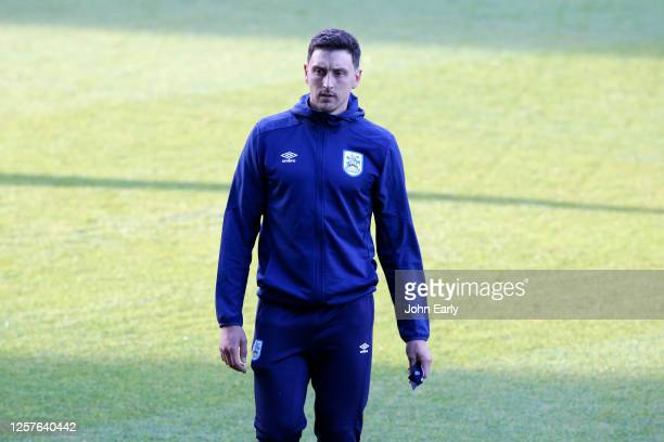 Tommy Elphick of Huddersfield Town looks on during the Sky Bet Championship match between Millwall and Huddersfield Town at The Den on July 22 2020...