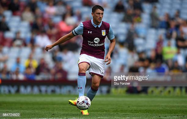 Tommy Elphick of Villa in action during the pre season friendly between Aston Villa and Middlesbrough at Villa Park on July 30 2016 in Birmingham...