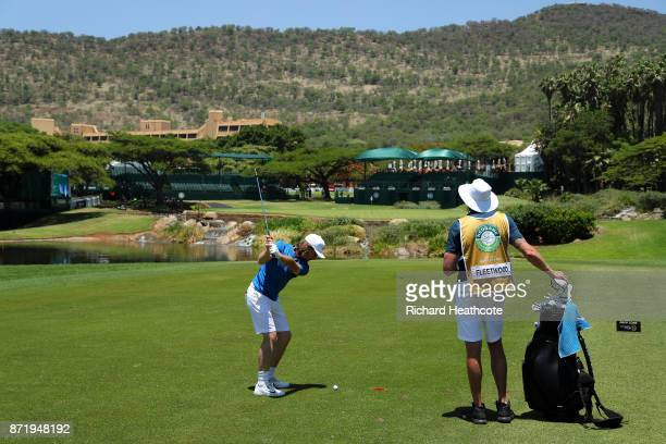 Tommy Fleetwood of England in action during the proam for the Nedbank Golf Challenge at Gary Player CC on November 08 2017 in Sun City South Africa
