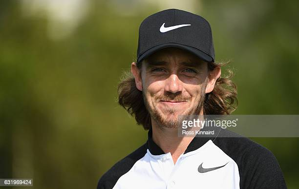 Tommy Fleetwood of England pictured during the proam event prior to the Abu Dhabi HSBC Championship at Abu Dhabi Golf Club on January 18 2017 in Abu...
