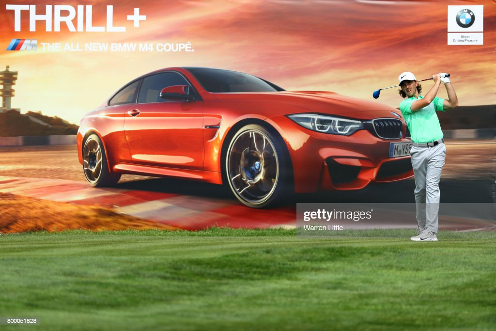 Tommy Fleetwood of England tees off during day two of the BMW International Open at Golfclub Munchen Eichenried on June 23, 2017 in Munich, Germany.