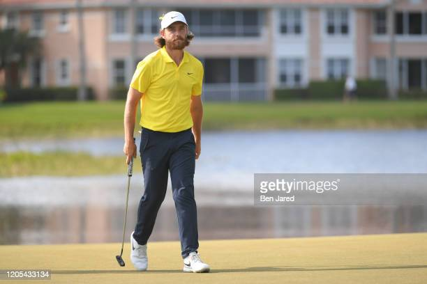 Tommy Fleetwood of England walks on the eighth green during the final round of The Honda Classic at PGA National Champion course on March 1 2020 in...