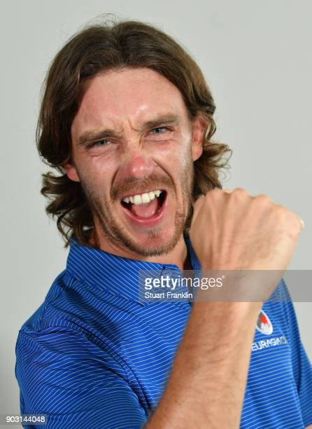 Tommy Fleetwood of Team Europe poses for a picture prior to the start of the Eurasia Cup at Glenmarie G&CC on January 10, 2018 in Kuala Lumpur,...