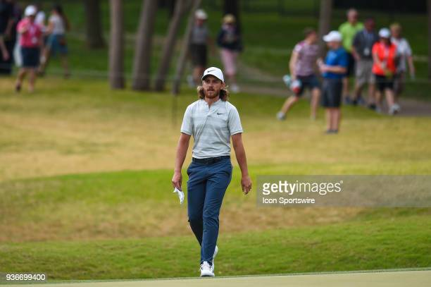 Tommy Fleetwood walks up the fairway during the Second Round of the WGCDell Technologies Match Play on March 22 2018 at Austin Country Club in Austin...