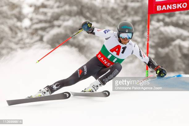 Tommy Ford of USA competes during the Audi FIS Alpine Ski World Cup Men's Giant Slalom on February 24, 2019 in Bansko Bulgaria.
