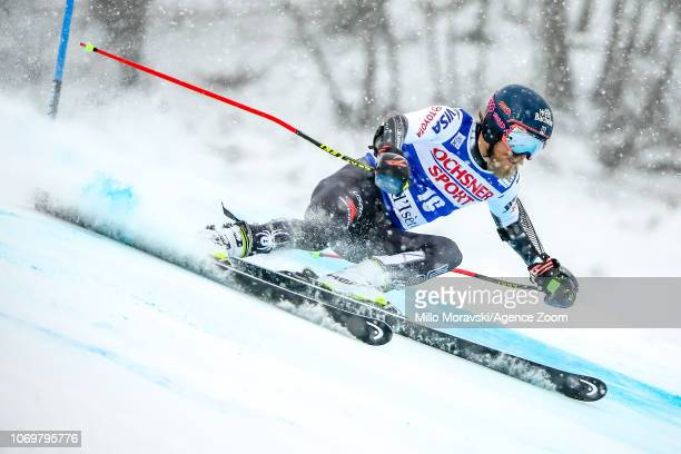 Tommy Ford of USA during the Audi FIS Alpine Ski World Cup Men's Giant Slalom on December 8, 2018 in Val d'Isère France.