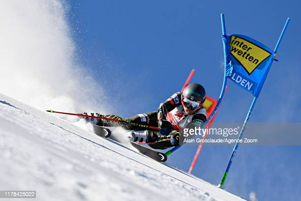 Tommy Ford of USA in action during the Audi FIS Alpine Ski World Cup Men's Giant Slalom on October 27, 2019 in Soelden, Austria.