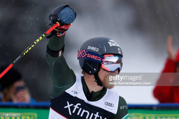 Tommy Ford of USA takes 1st place during the Audi FIS Alpine Ski World Cup Men's Giant Slalom on December 8, 2019 in Beaver Creek USA.