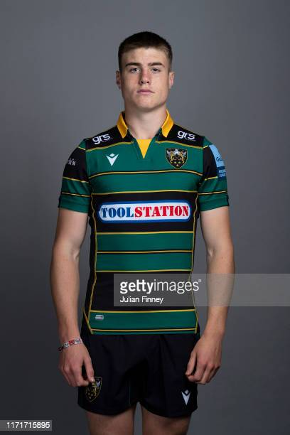 Tommy Freeman of Northampton Saints poses for a portrait during the Northampton Saints squad photocall for the 20192020 Gallagher Premiership Rugby...