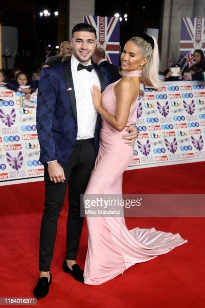 Tommy Fury and Molly-Mae Hague attend Pride Of Britain Awards 2019 at The Grosvenor House Hotel on October 28, 2019 in London, England.
