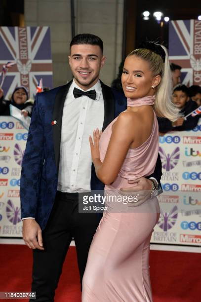 Tommy Fury and MollyMae Hague attend Pride Of Britain Awards 2019 at The Grosvenor House Hotel on October 28 2019 in London England