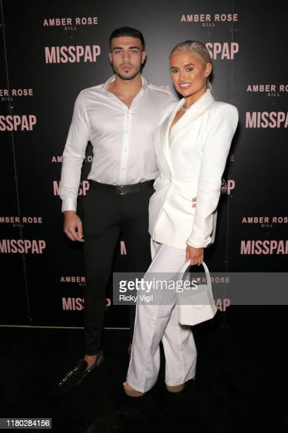 Tommy Fury and MollyMae Hague attend the Misspap Launch Party on October 10 2019 in London England