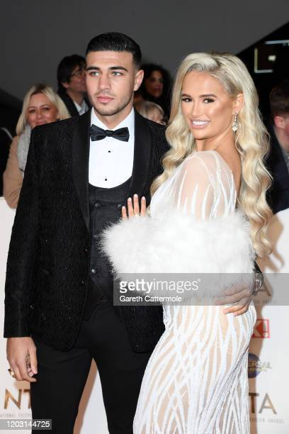 Tommy Fury and MollyMae Hague attend the National Television Awards 2020 at The O2 Arena on January 28 2020 in London England