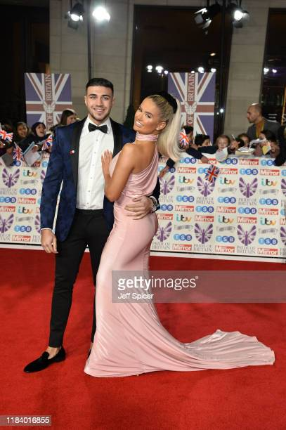 Tommy Fury and MollyMae Hague attends Pride Of Britain Awards 2019 at The Grosvenor House Hotel on October 28 2019 in London England