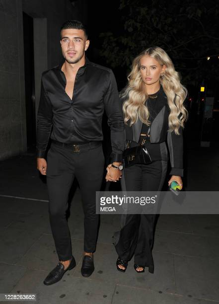 Tommy Fury and Molly-Mae Hague leaving STK restauranton August 29, 2020 in London, England.