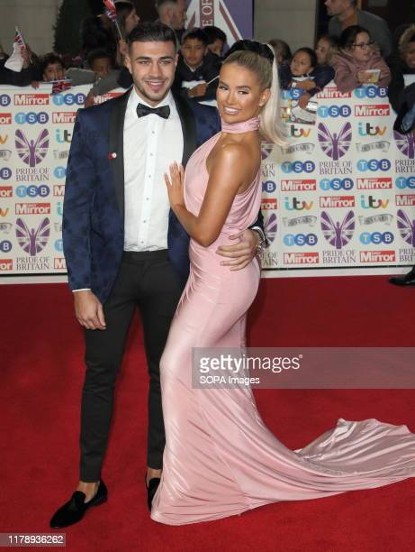 Tommy Fury and Molly-Mae Hague on the red carpet at The Daily Mirror Pride of Britain Awards, in partnership with TSB, at the Grosvenor House Hotel,...