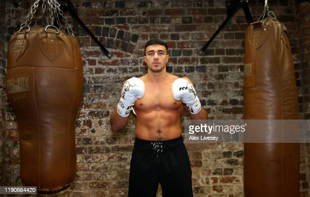 Tommy Fury poses for a portrait during a media workout at the Henrietta Gym on November 28 2019 in Birmingham England