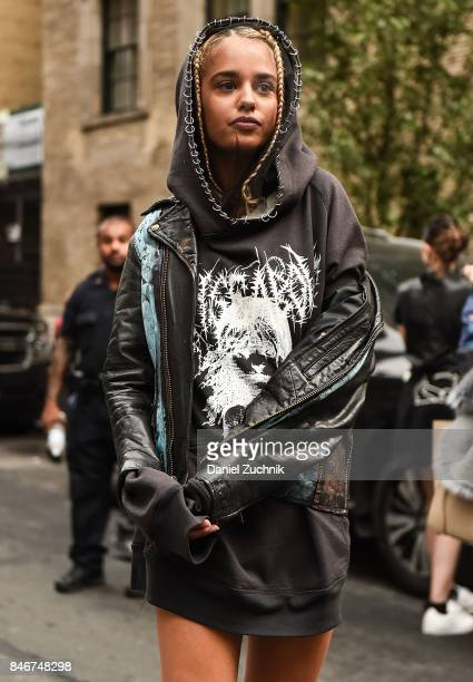 Tommy Genesis is seen outside the Marc Jacobs show during New York Fashion Week Women's S/S 2018 on September 13 2017 in New York City