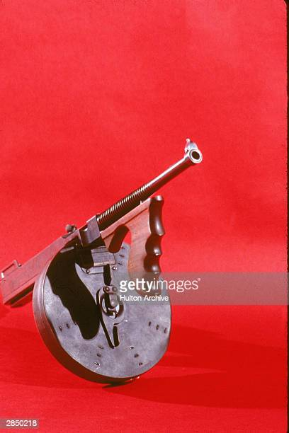 Tommy gun used by American gangster Al Capone 1930's