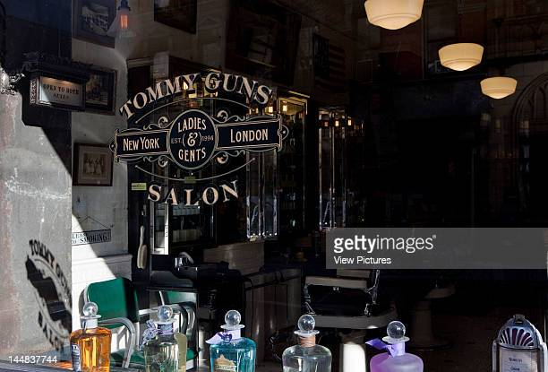 Tommy Guns Ludlow Street New York New York United States Architect Russel Manly Tommy Guns Hairsalon Russell Manly New York Exterior View Of Logo Of...