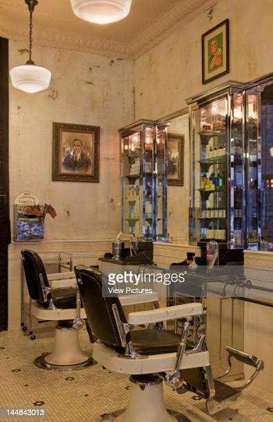 Tommy Guns Ludlow Street New York New York United States Architect Russel Manly Tommy Guns Hairsalon Russell Manly New York View Of Barber Chairs...