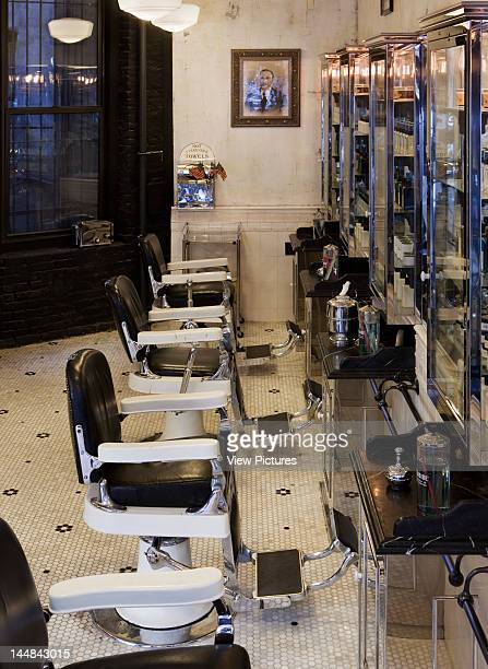Tommy Guns Ludlow Street New York New York United States Architect Russel Manly Tommy Guns Hairsalon Russell Manly New York View Of Row Of Barber...