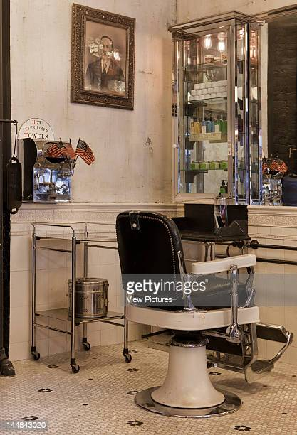 Tommy Guns Ludlow Street New York New York United States Architect Russel Manly Tommy Guns Hairsalon Russell Manly New York View Of Barber Chair...