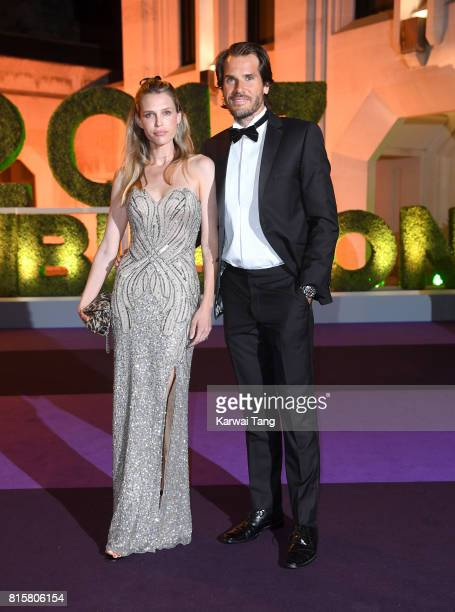 Tommy Haas and Sara Foster attend the Wimbledon Winners Dinner at The Guildhall on July 16 2017 in London England