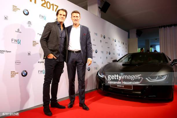 Tommy Haas arrives with tournament director Patrick Kuehnen at the Players Night of the 102 BMW Open by FWU at Iphitos tennis club on April 30 2017...