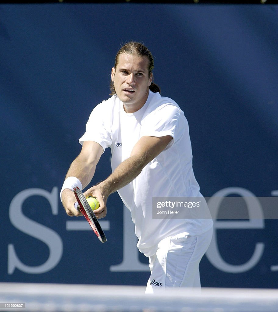 Tommy Haas (Germany) during action against Ivo Karlovic (Croatia) at the Los Angeles Tennis Center in Westwood, California, on July 25, 2005.Tommy Haas beat Ivo Karlovic 6-4 6-4