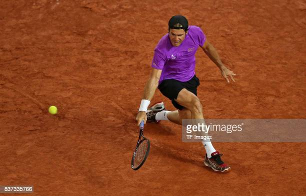 Tommy Haas of Germany in action during the International German Open at Rothenbaum on July 25 2017 in Hamburg Germany