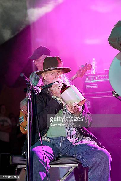 Tommy Hall of the 13th Floor Elevators performs with the group for the first time in 45 years during the Levitation Festival at Carson Creek Ranch on...