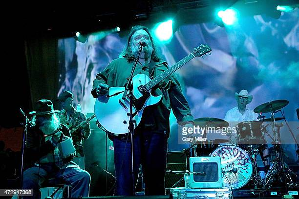 Tommy Hall Ronnie Leatherman Roky Erickson and John Ike Walton of the 13th Floor Elevators perform as a group for the first time in 45 years during...