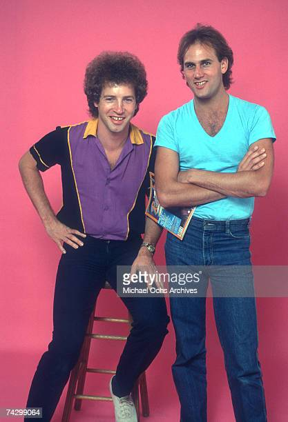 Tommy Heath and Jim Keller of the rock band 'Tommy Tutone' pose for a studio portrait session in 1981 in Los Angeles California