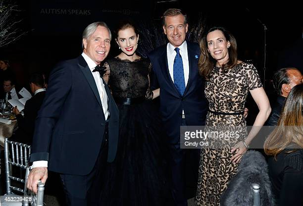 Tommy Hilfiger Allison Williams Brian Williams and Jane Stoddard Williams attend the Winter Ball for Autism at Metropolitan Museum of Art on December...